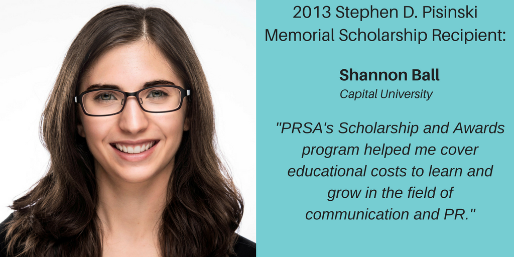 Scholarship Recipient – Shannon Ball