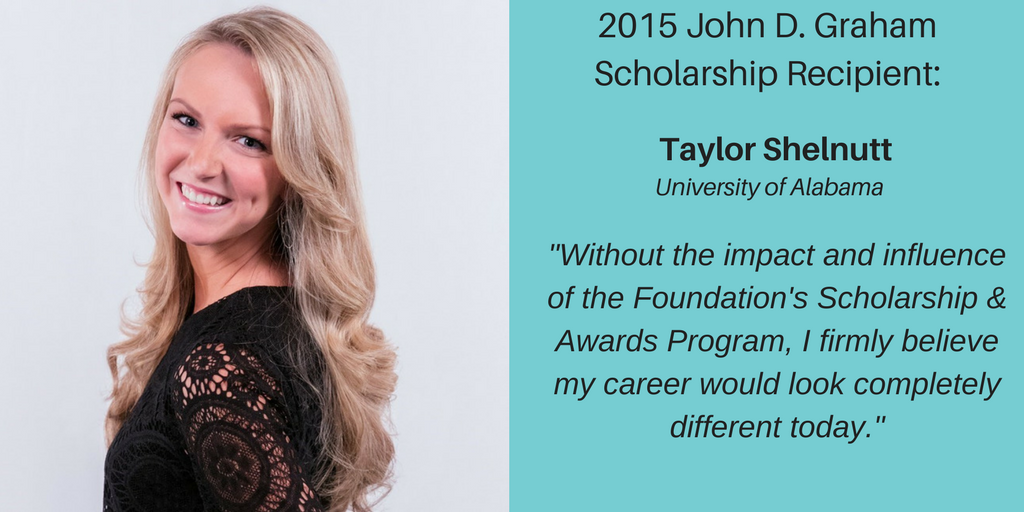 Scholarship Recipient – Taylor Shelnutt 2015